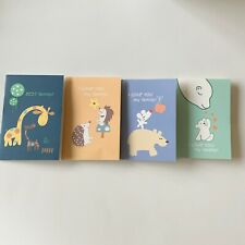"New 4PCS Pocket Diary Notebook Small 4.9""×3.3"""