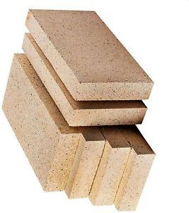 "Vermiculite Villager Stove Fire Bricks 4.5"" x 9"" Multi Fuel Woodburner Logburner"