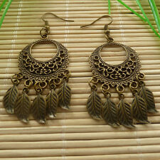 32pairs bronze plated tassels charms Earrings eardrop 71x27mm ZH770
