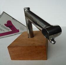 "3ttt Titanium stem Pro 1""quill 130mm 26.0 3T Vintage Bike 3T New NOS"