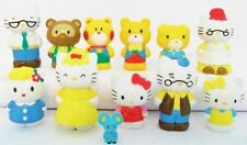 HELLO KITTY Figure Set SANRIO PVC TOY Cake Topper GEORGE Mary MIMMY Joey TIPPY!