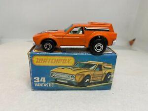 Matchbox Lesney 1-75 Superfast MB 34B Vantastic Boxed