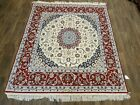 Handeoven square rug 7'x7' ESTATE SALE RUG 100% PURE SILK & WOOL traditional
