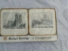 Pimpernel Coasters Set of 6 British heritage cork backs new boxed