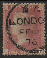 SG43.  1d.Rose-Red Plate 178. VFU With London 1876 CDS.  Ref:0793
