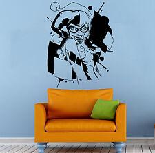 Harley Quinn Wall Vinyl Decal DC Comics Super Hero Vinyl Sticker Art Decor 31b2j