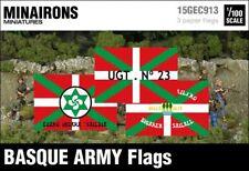 Minairons 1:100 Basque Army flags - 15mm Spanish Civil War