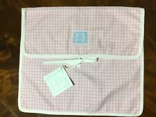 Nwt Yves Delorme Paris Baby Pillow Cover Pink check $100 Msrp Girl Decor New 12""