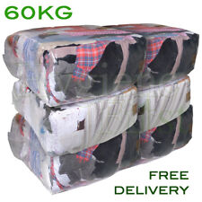 60Kg Bag of Rags Mixed material wipers - excellent value