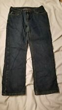 Carhartt WB022 ADT Womens Flannel Lined Denim Work Jeans Tag 10x30 Measure 30x29
