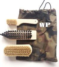SHOE POLISH KIT / CLEANING ORIGINAL MILITARY LEATHER BOOTS CANVAS BAG BRUSH SET
