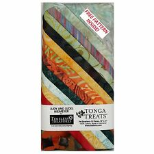 100% Cotton Fabric - Tonga Treats Bird Of Paradise 12 Fat Quarter Pack