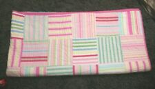 Pottery Barn Kids quilt  Pink  striped patchwork full size