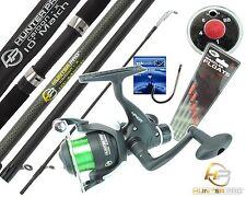 Complete Starter Fishing Kit Set HUNTER PRO® Carbon Fishing Rod Reel & Tackle