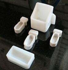 Antique Lot Of 5 Milk Glass Bird Cage Feeder Feed Cups Hendryx - Germany