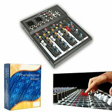 4 Channel USB Audio Mixer Mixing Console for Live Video Studio Sound Karaoke