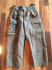 Vintage Heavy Military Pants Wool BAW1 Cargo Belt/Suspender 31 x 27