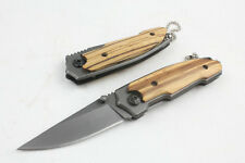 Wood handle G&B Knife Sharp Camping Hunting Rescue Saber With key chain Gift
