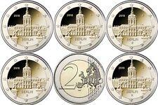 Germania 5 x 2 Euro Serratura Charlottenburg 2018 Banca fresco con MZZ A D F G J