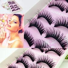 5Paires naturel Long noir cils maquillage épais faux-cils Party fête MAQUILLAGE