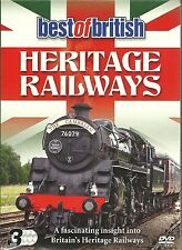 BEST OF BRITISH HERITAGE RAILWAYS 1, 2 & 3 DVD SET INSIGHT INTO BRITAIN'S TRAINS