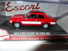 GREENLIGHT FORD ESCORT MK 1 1974 RS2000 RED/WHITE 1:43 DIECAST MODEL 86066 NEW