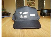 Printed Baseball Cap I'm With Stupid Funny Joke Gift New Hat Fashion Caps Meme