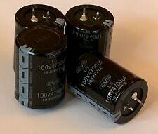 QTY 4 Snap-In Nover Radial Electrolytic Capacitors 4700uF 100V 35 x 45