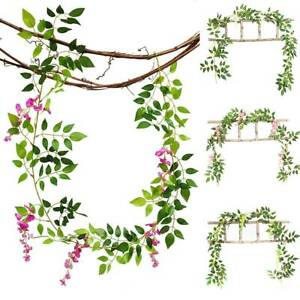 Artificial Plant Outdoor Wisteria Vine Garland Plant Foliage Trailing Flower