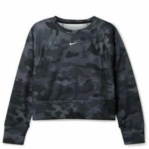 Nike Rebel Camo Drifit Jersey Sweatshirt Camouflage Women's Plus Size 2X 3X