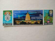 Sharjah Khor Fakkan 1966 philatelic exhibition Stamps MNH, Set of 3