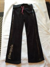 Pair Sparkly Black PINEAPPLE Tracksuit Bottoms 7-8 Yrs