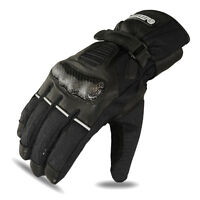 Motorbike Winter Gloves Motorcycle Racing Cow Leather Waterproof Thermal 1353 M