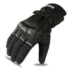 Motorbike Winter Gloves Motorcycle Racing Cowhide Leather Waterproof Black, M