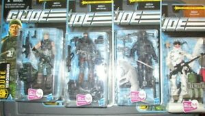 GI JOE THE PURSUIT OF COBRA LOT  OF 4 FIGURES ON CARDS FACTORY SEALED