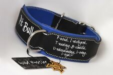 Pit bull Collar,Leather collar-Hand Stitched-Heavy duty leather dog collar