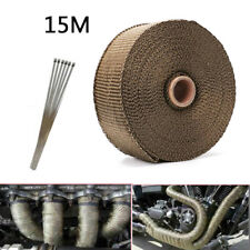 15M Motorcycle Exhaust Pipe 900℃ Insulation Glass Fiber Tape Wrap Thermal Strip