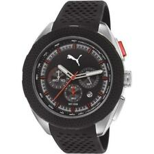 Men's Puma Octane Black Silicone Strap Chronograph Quartz Watch PU103251003