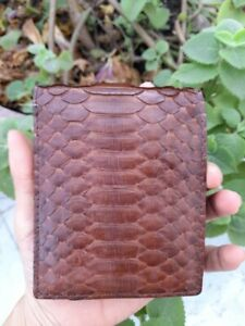 BROWN Genuine LIZARD Leather Skin Men's Bifold Wallet Credit Card (Available)