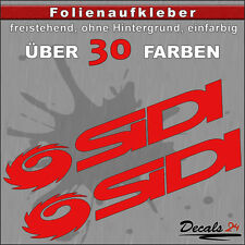 2er SET - SIDI Sponsoren-Folienaufkleber Auto/Motorrad - 30 Farben - 18cm