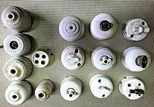 Lot interupteur electrique vintage design porcelaine suspension monte & baisse 8