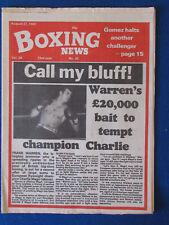 Boxeo Revista Noticias - 27/8/82 - Charlie Magri Cubierta-Salvador Sanchez tributos