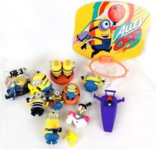 11 Despicable Me Minion Figures Toys McDonald's Happy Meal Toys Lot & BBall Hoop