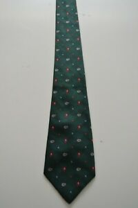 Dunhill green silk necktie with paisley pattern