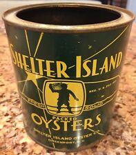 Quart Oyster Tin Can Shelter Island Green Point New York NY Near Beach