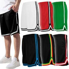 Urban Classics Herren Shorts Stripes Mesh Kurze Hose Sport Basketball Neu TB243