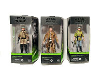 STAR WARS BLACK Series ENDOR LUKE, HAN SOLO, PRINCESS LEIA NEW In Hand Set Of 3
