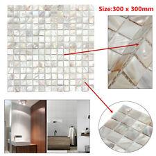 White Square Shell Mosaic Tiles Natural Mother Of Pearl Kitchen Backsplash Tiles