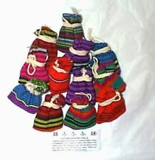 12 Guatemala WORRY DOLL POUCHES dolls Trouble Dolls