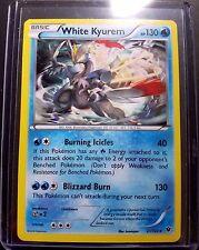 White Kyurem Ultra Rare Holo Rare Pokemon Card 21/124 TCG + Hard Sleeve